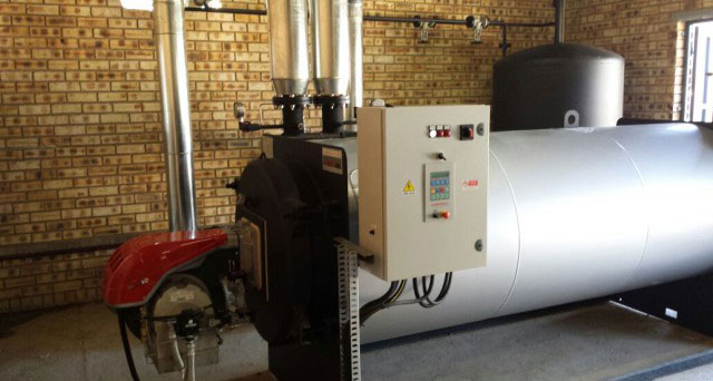 new thermal oil boiler installation